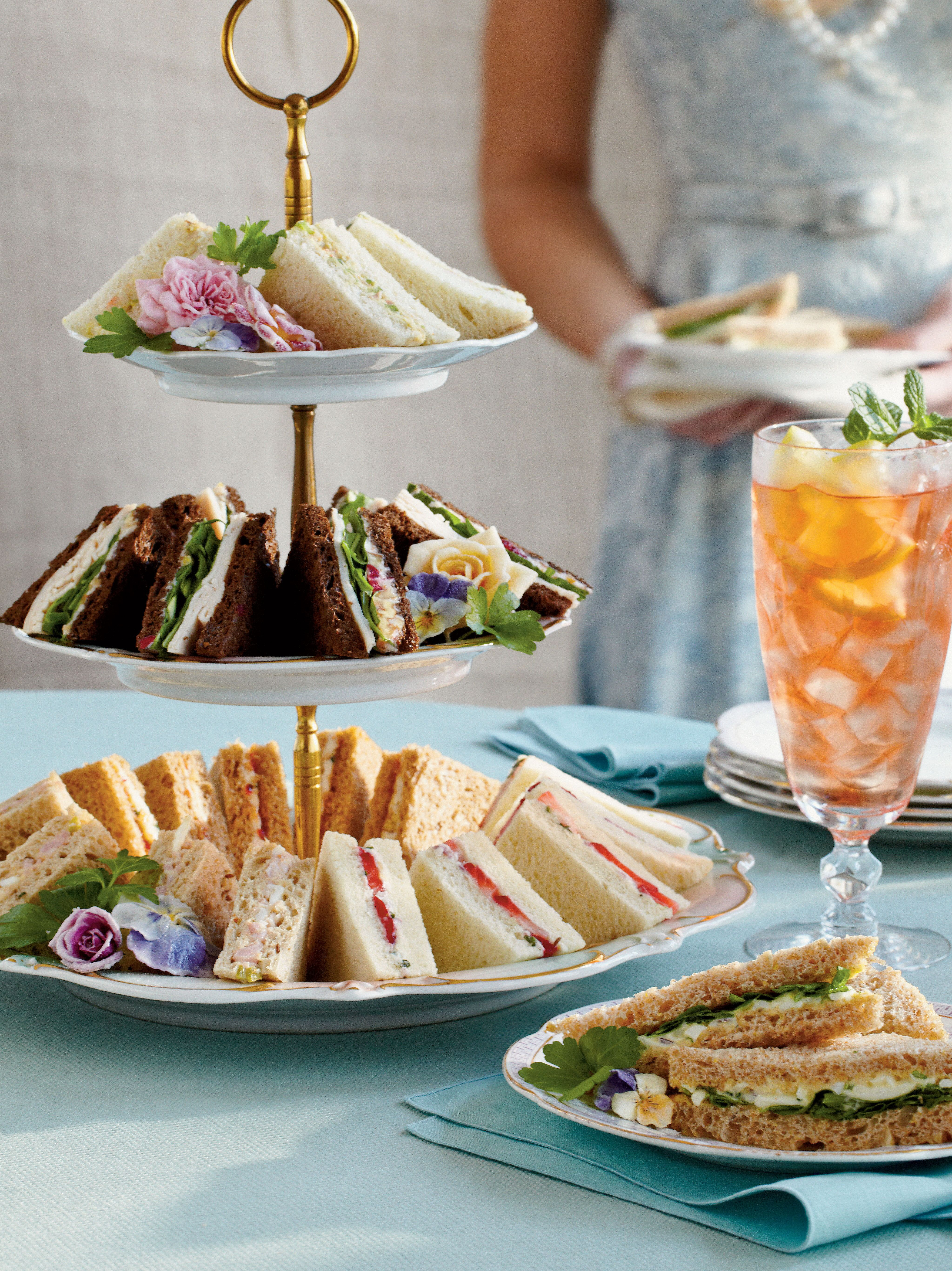 crowd-pleasing tea sandwiches | party party in 2018 | pinterest