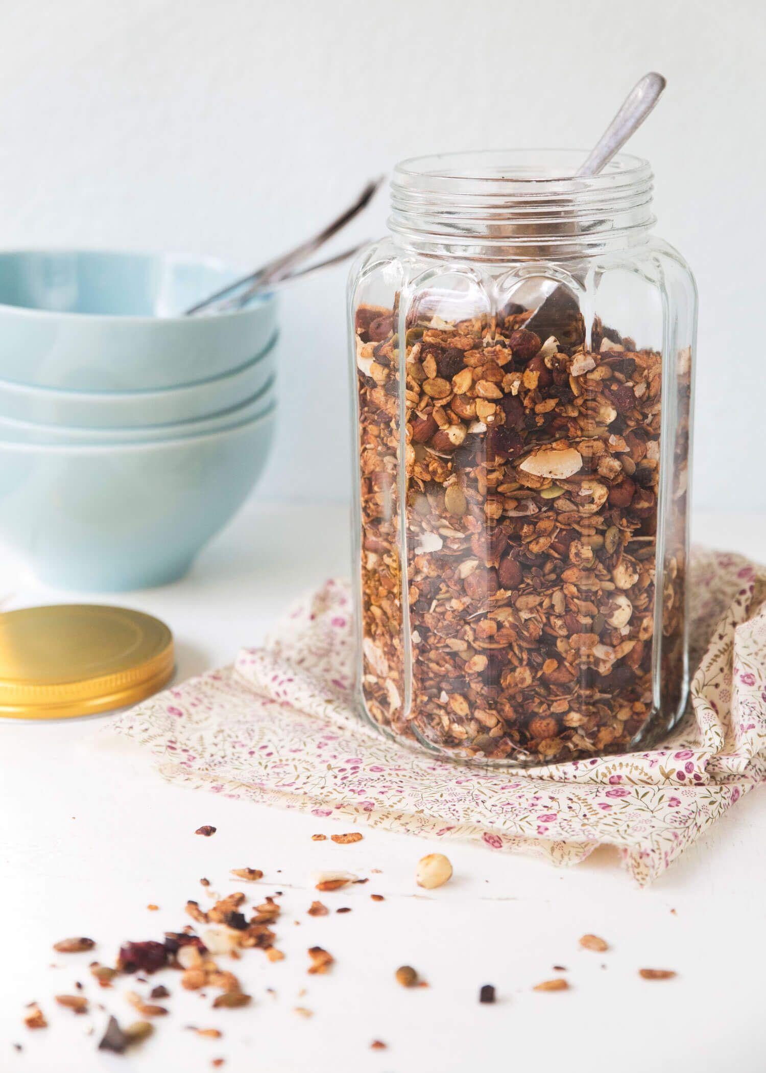 granola med mörk choklad