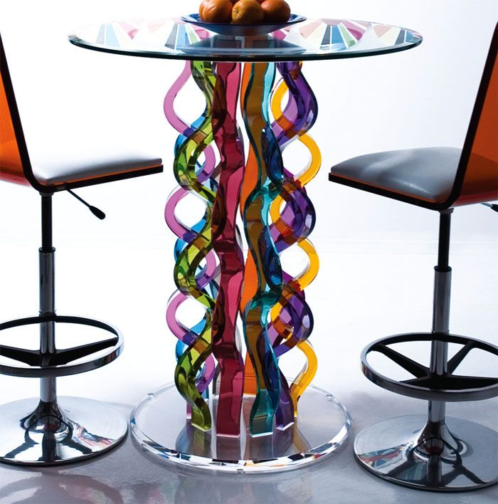 Beautiful Glass Bar Tables By H Studio