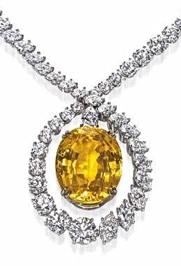 Harry Winston Yellow Sapphire