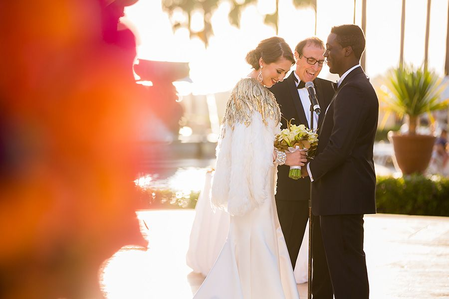 Glamorous Outdoor Wedding with Couture Bridal Style