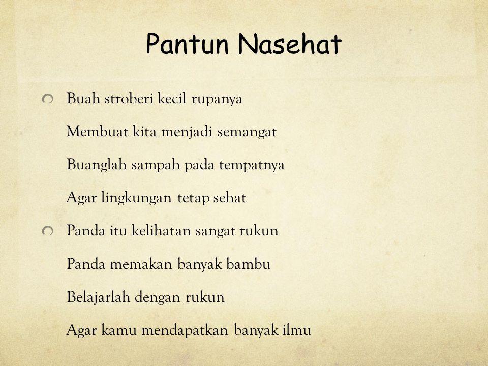 Kumpulan Pantun Nasehat Terbaru Di Indonesia Belajar Kutipan