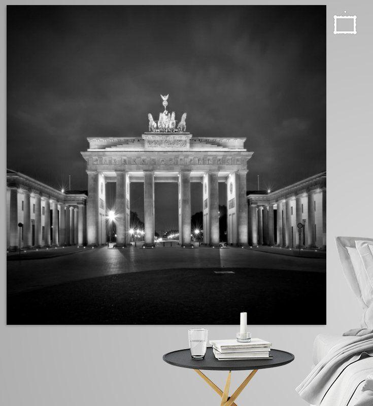 Brandenburger Tor Berlin Sw Poster Melanie Viola Ohmyprints Brandenburger Tor Berlin Brandenburger Tor Architektur