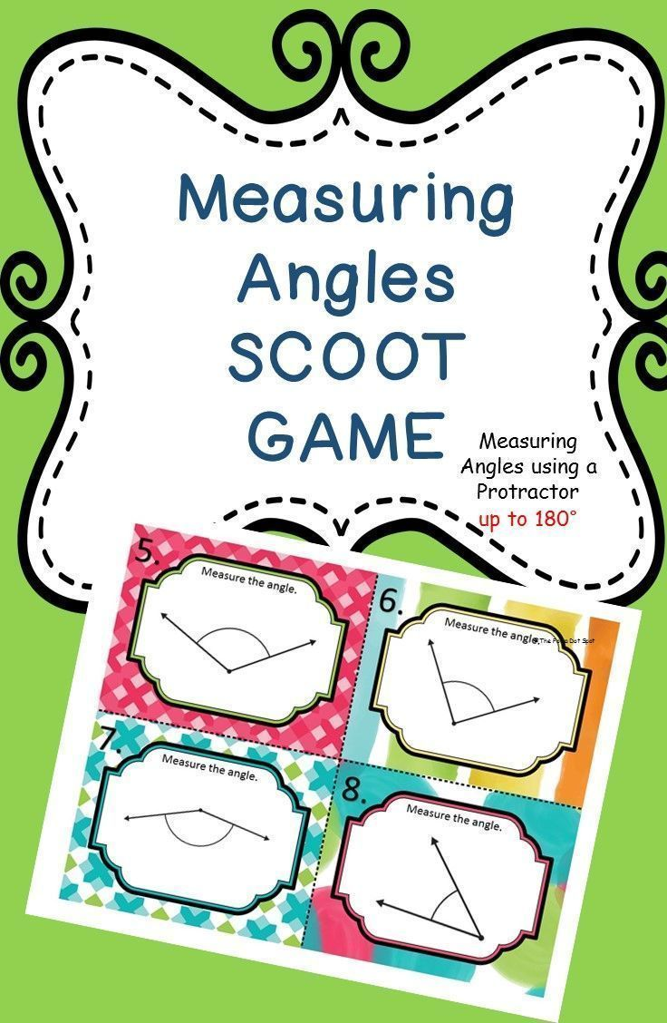Measuring Angles SCOOT Game and Task Cards Task cards