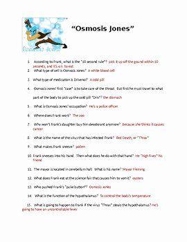 Osmosis Jones Worksheet Answer Key Awesome Osmosis Jones ...