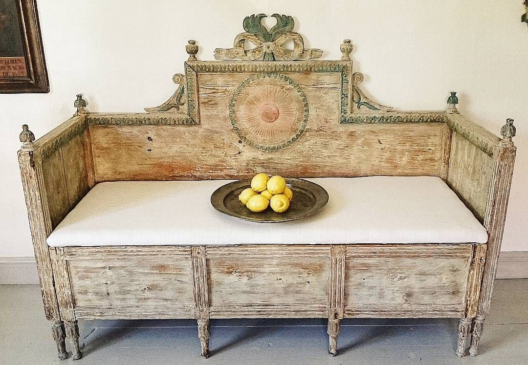Bed Sofa Forsa Halsingland Very Nice Scraped To Original Fragments Nice Carvings No Touchup Paint All Wood Pieces Original Sold Swedish Furniture Furniture