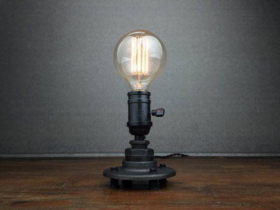 Minimalist desk lamp industrial table lamp edison bulb