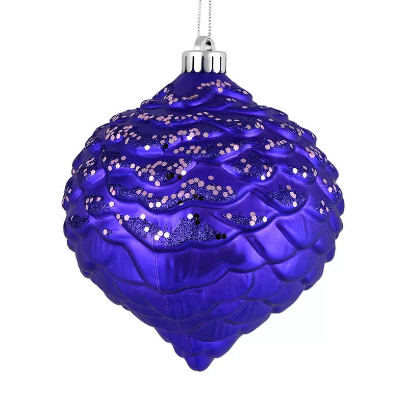 Glitter Pine Cone Finial Ornament In 2021 The Holiday Aisle Pinecone Ornaments Cone Christmas Trees