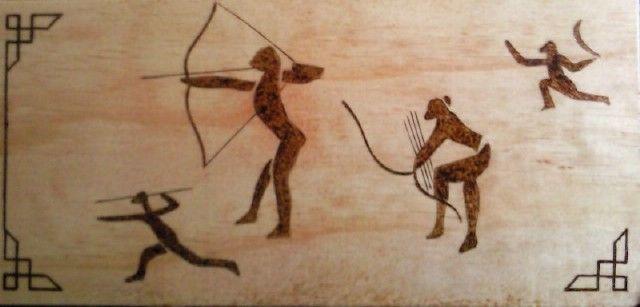 رسومات ماقبل التاريخ في الجنوب الجزائري رسم بالكي بالنار Risunki