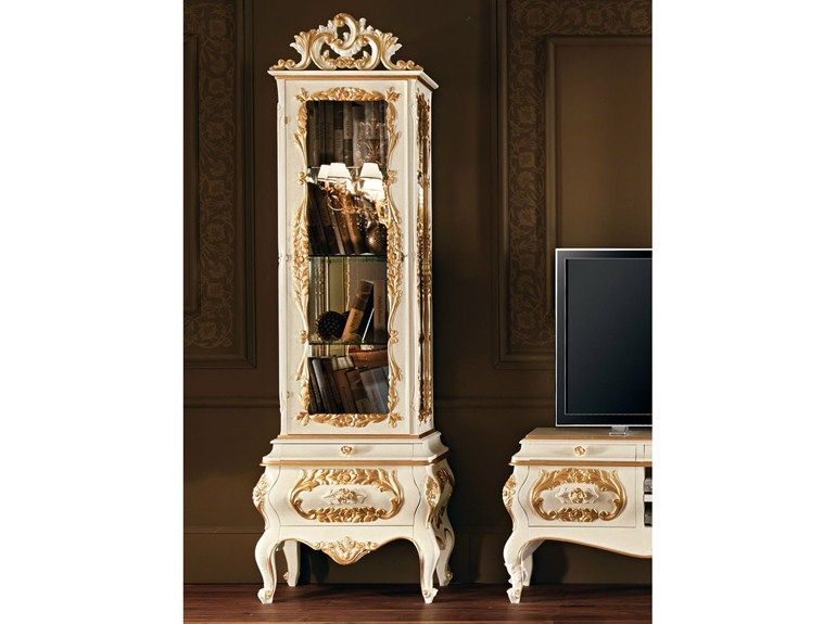 Solid wood display cabinet 11103 Villa Venezia Collection by Modenese Gastone group