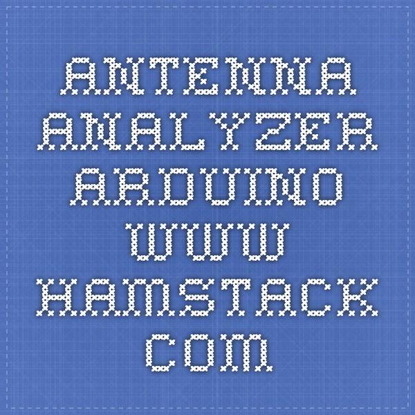Antenna analyzer arduino hamstack