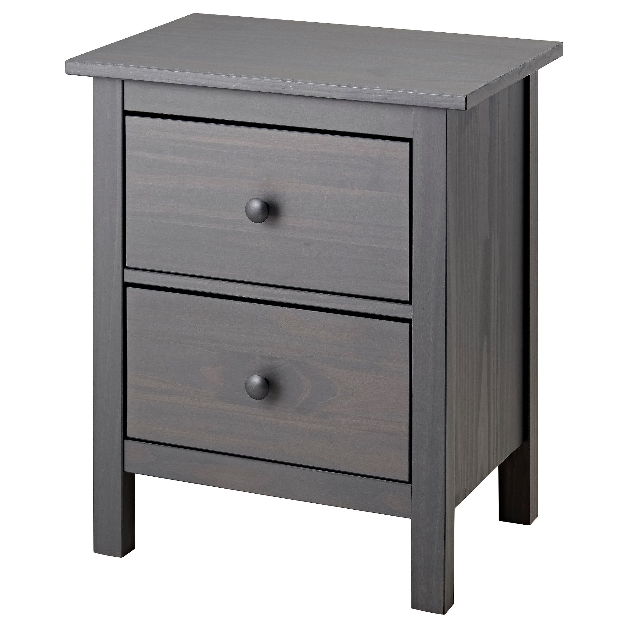 Hemnes 2 Drawer Chest Gray Dark Gray Stained 21 1 4x26