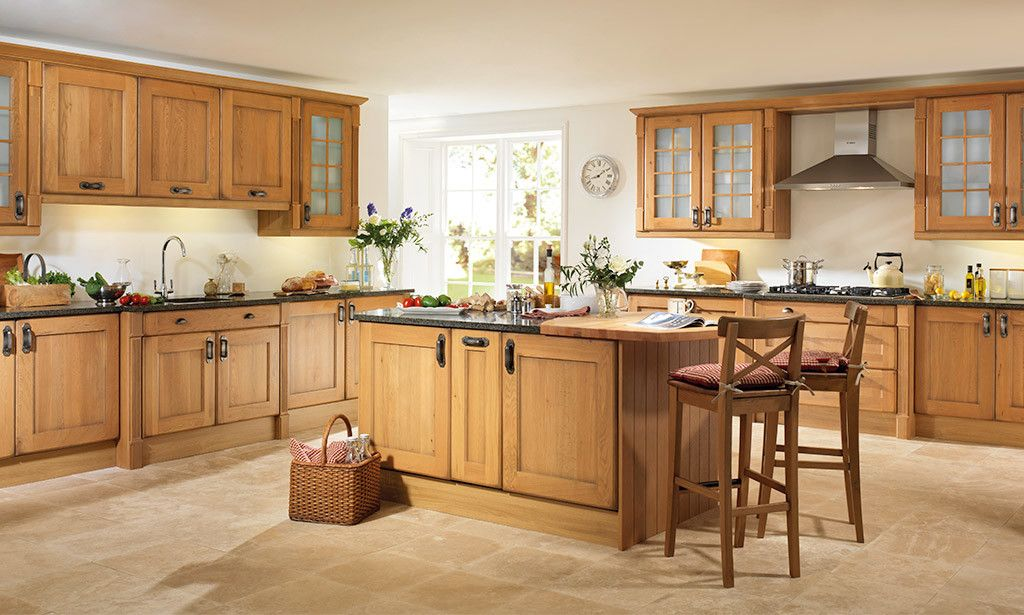 Antique Oak Timber Kitchen Image 1  Kitchen Design Ideas Prepossessing Timber Kitchen Designs Design Decoration