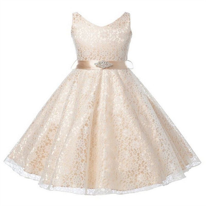 69f1c43c32e57 Pas cher Fille Robe Enfants De Mariage Demoiselle D honneur Enfants Girs…