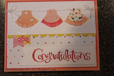 2015  Girly dressed up new baby card