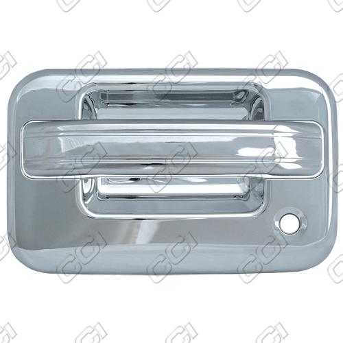 Ford F150 2004 2013 2 Door Chrome Door Handle Covers W Passenger Keyhole W O Keypad Chrome Door Handles Chrome Door Handles