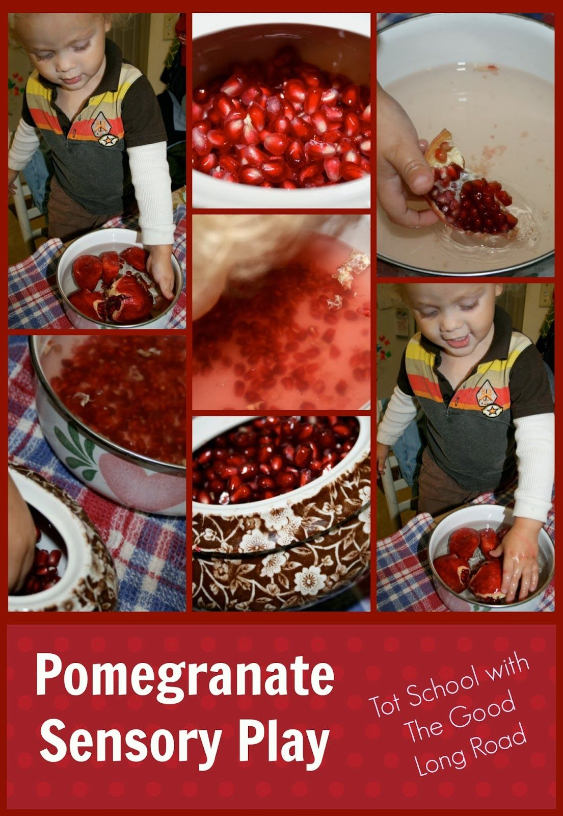Taking Pomegranate Seeds Out Of The Pomegranate Is Such A Great Fine Motor Activity