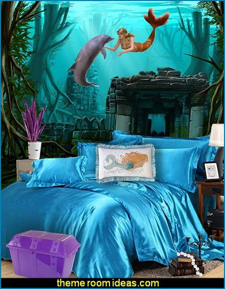 mermaid bedroom decor - mermaid bedding - Mermaid Wall ...