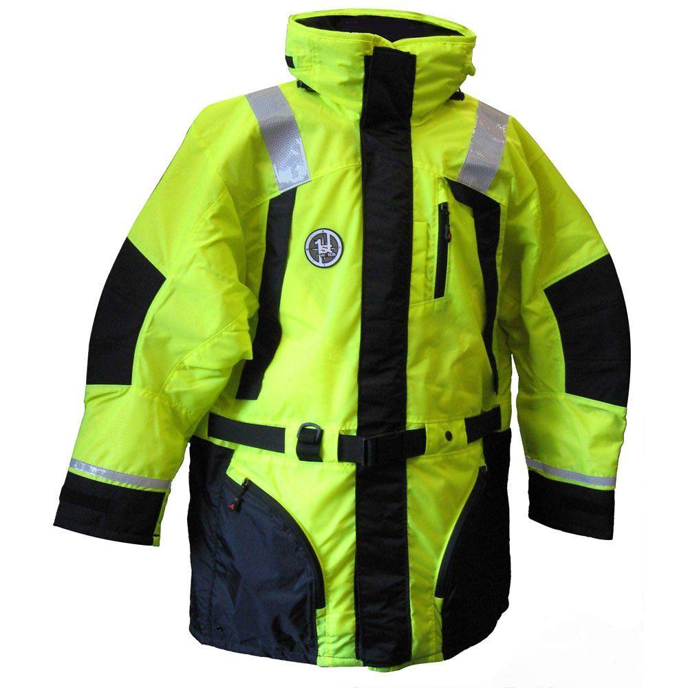 First Watch Hi Vis Flotation Coat Hi Vis Yellow Black X Large Yellow Black Black Black Media