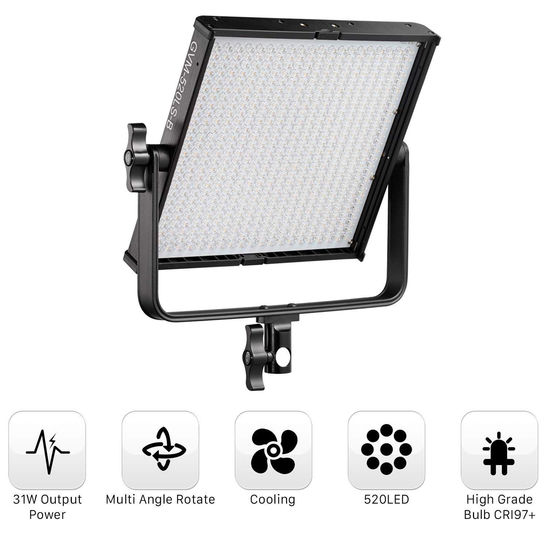 Gvm Led Videoleuchte Fotografie Light Beleuchtung Panel Amazon De Kamera Licht Fotografie Led Licht Led