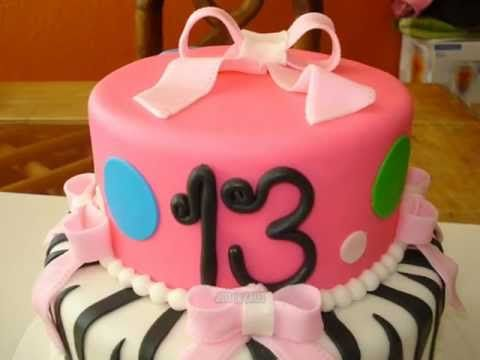 13 Year Old Girl Birthday Cake Birthday cakes Pinterest
