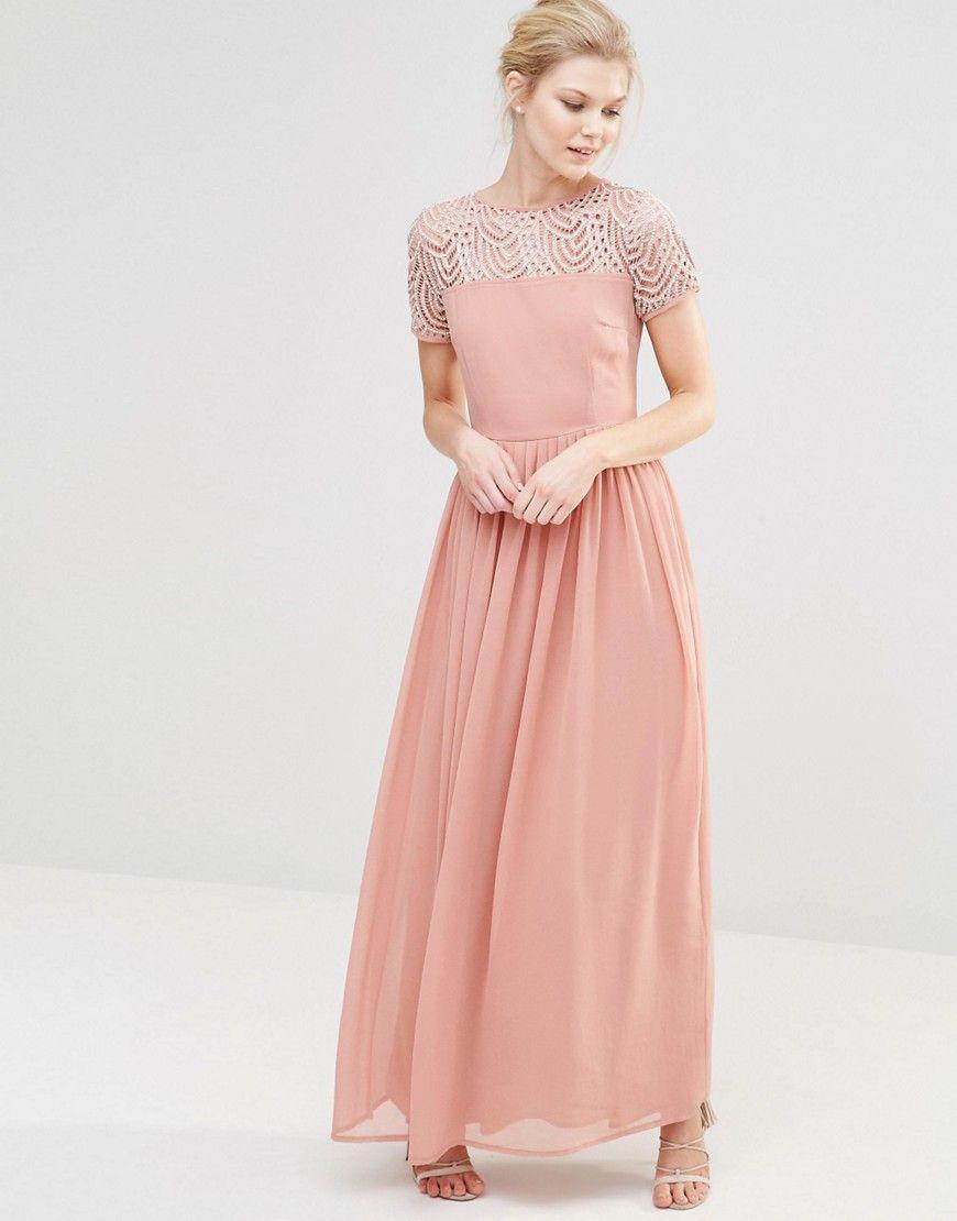 Maya+Petite+Pleated+Maxi+Dress+With+Pearl+Embellishment | Bridesmaid ...