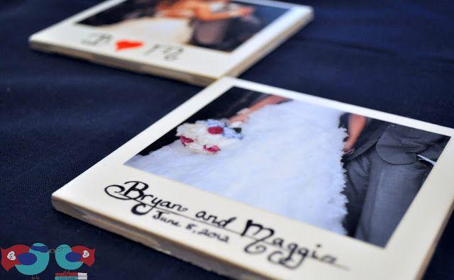 Polaroid Picture Coasters ~ The Love Nerds