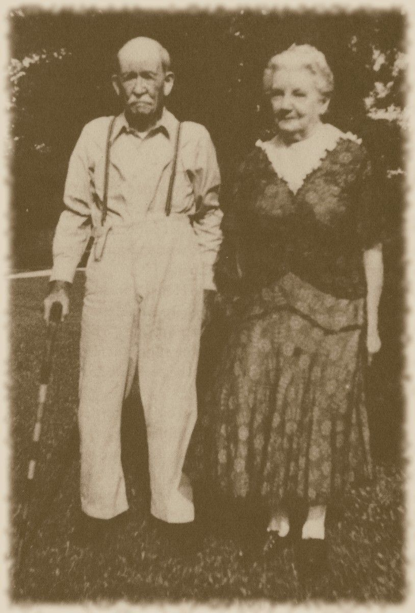Laura and Almanzo, 1948--Laura was 81, Almanzo was 91.  This was one year before his death.