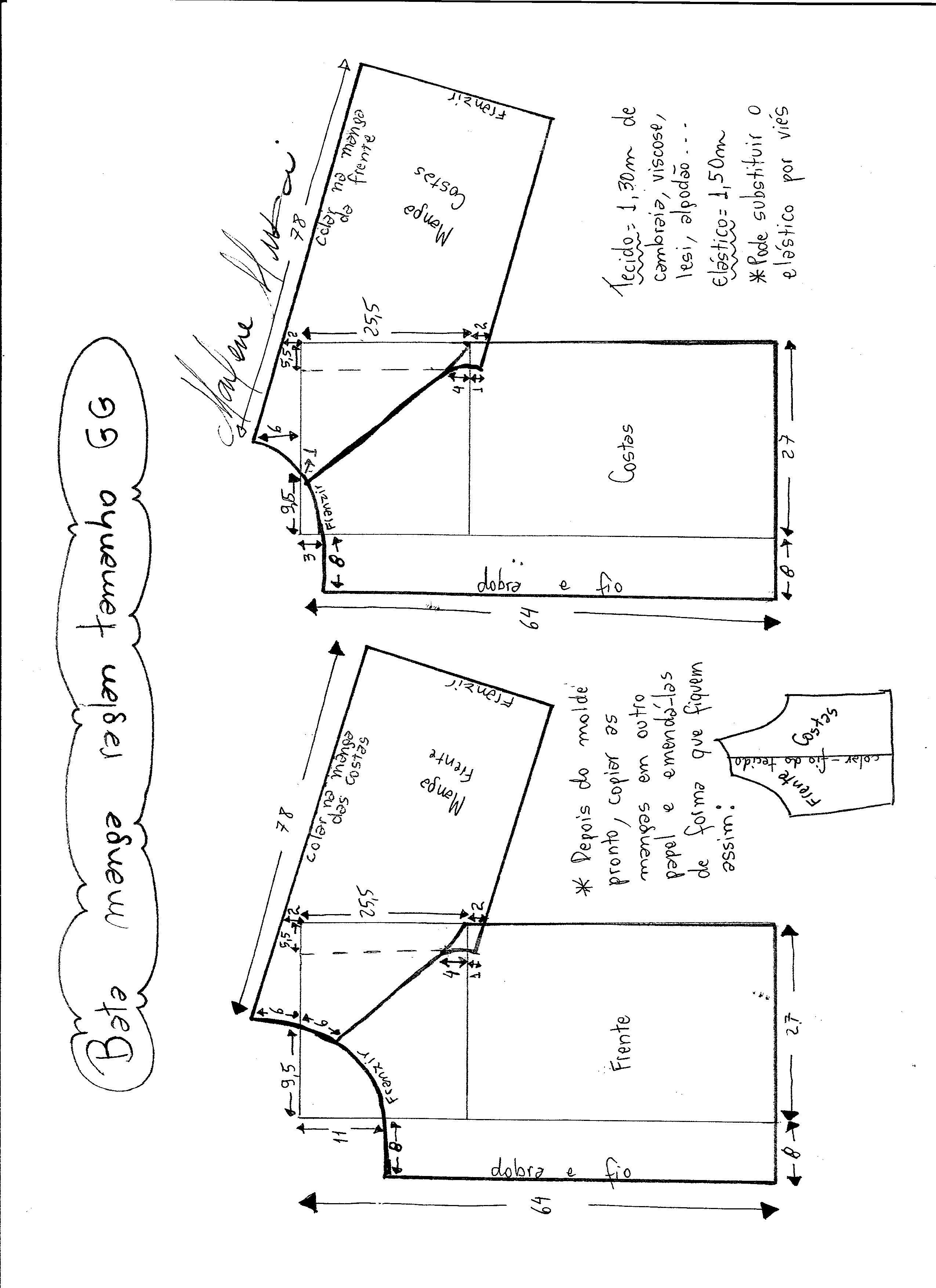 Pin de Elina Barriga Arias en moldes blusas | Sewing, Sewing ...