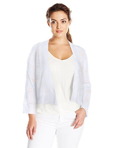 Ronni Nicole Womens Plus Size Crochet Shrug White 3X -- Find out more about  the great product at the image link. | Crochet shrug, Ladies shrugs,  Clothes for women