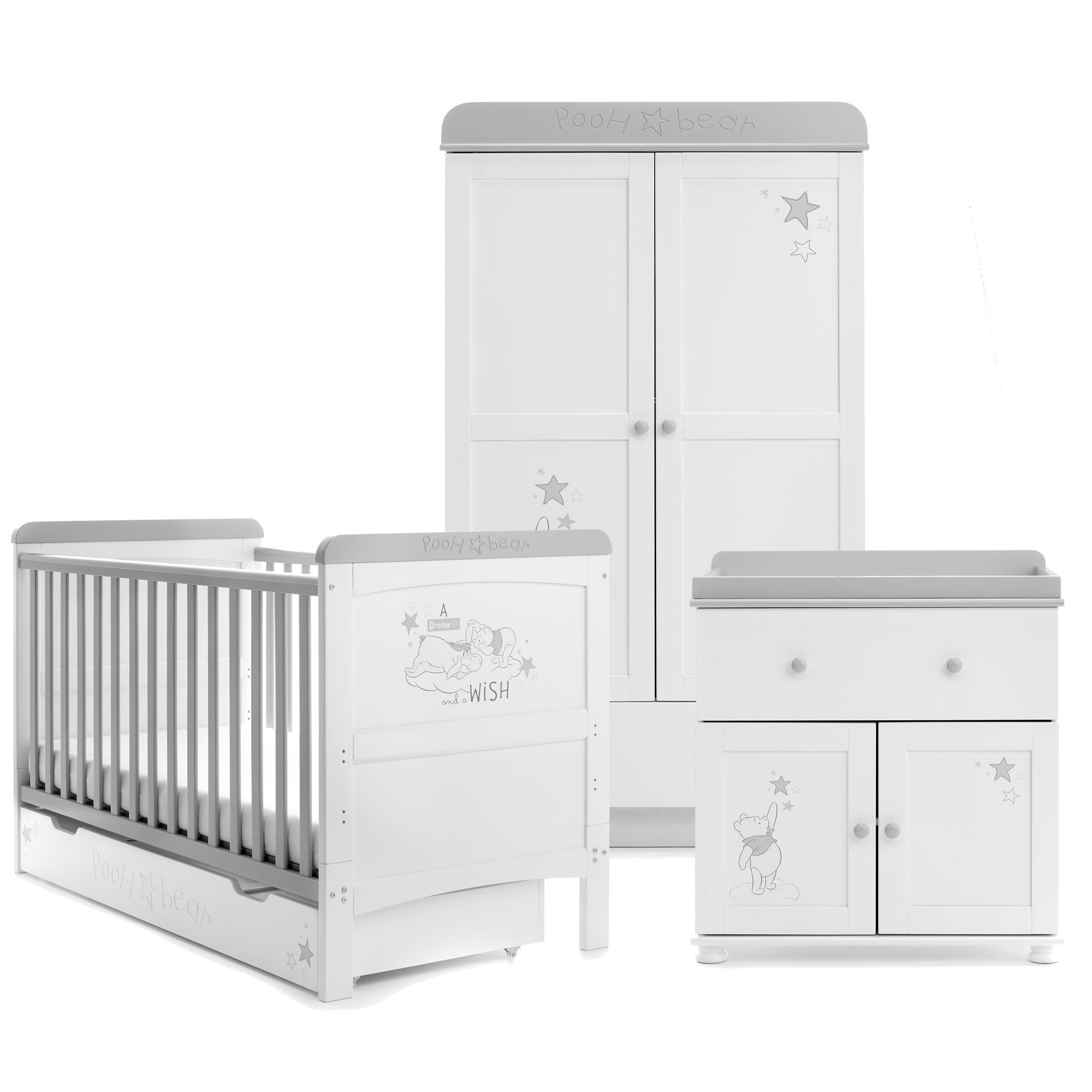 Disney Winnie The Pooh 3 Piece Nursery Furniture Set