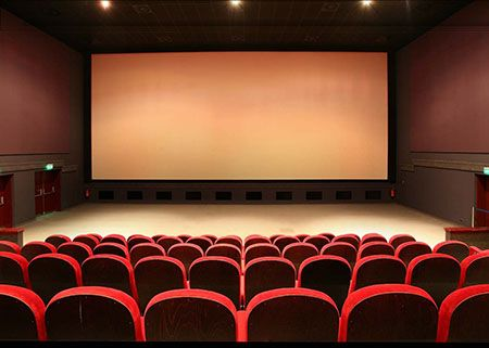Movie Theater Psd Luxury Background Greenscreen Psd