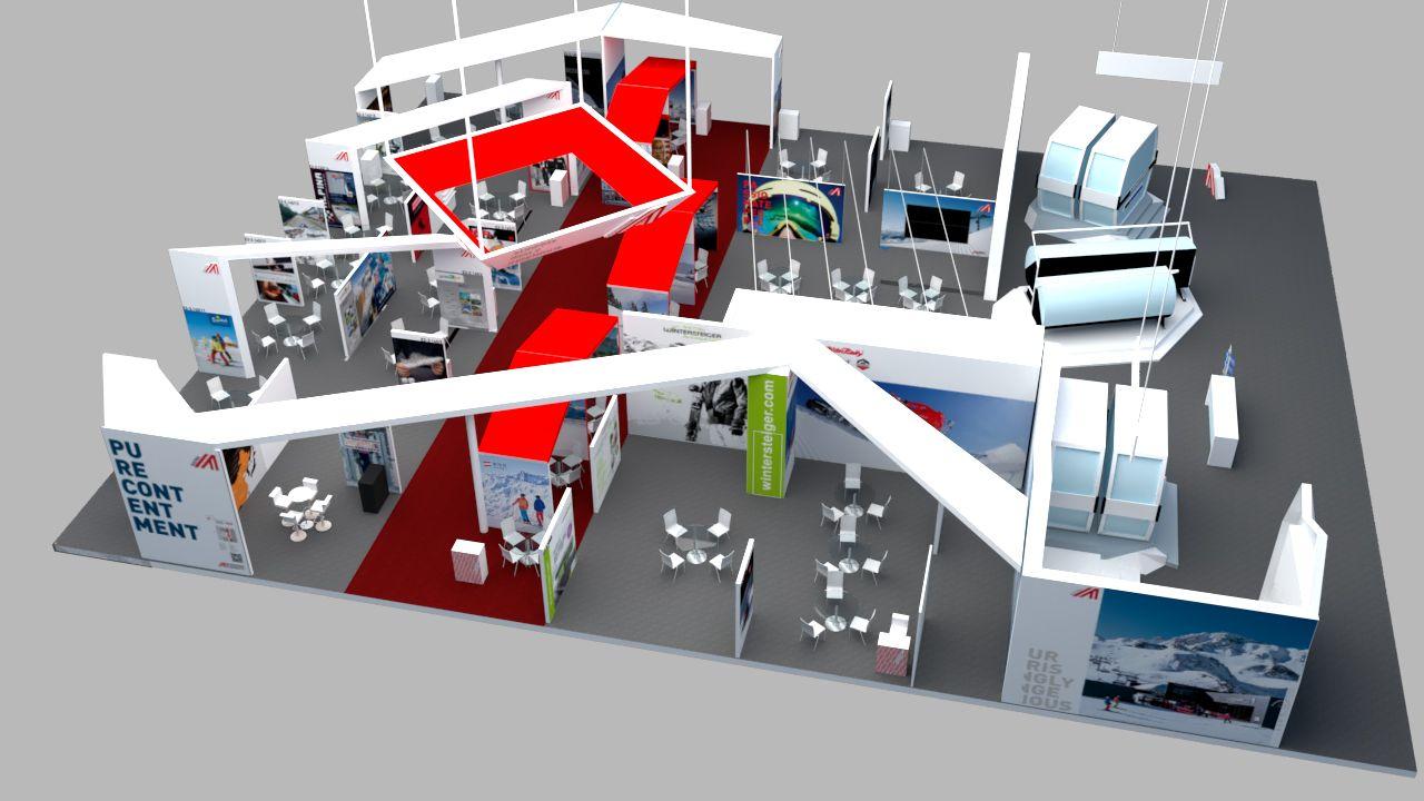 World Winter Sports Beijing Expo 2018 Advantage Austria Stand In 2020 Retail Design Design Bold Shapes
