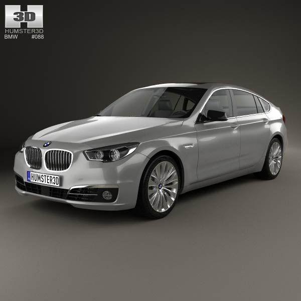 3D model of BMW 5 Series (F07) Gran Turismo 2014 Bmw