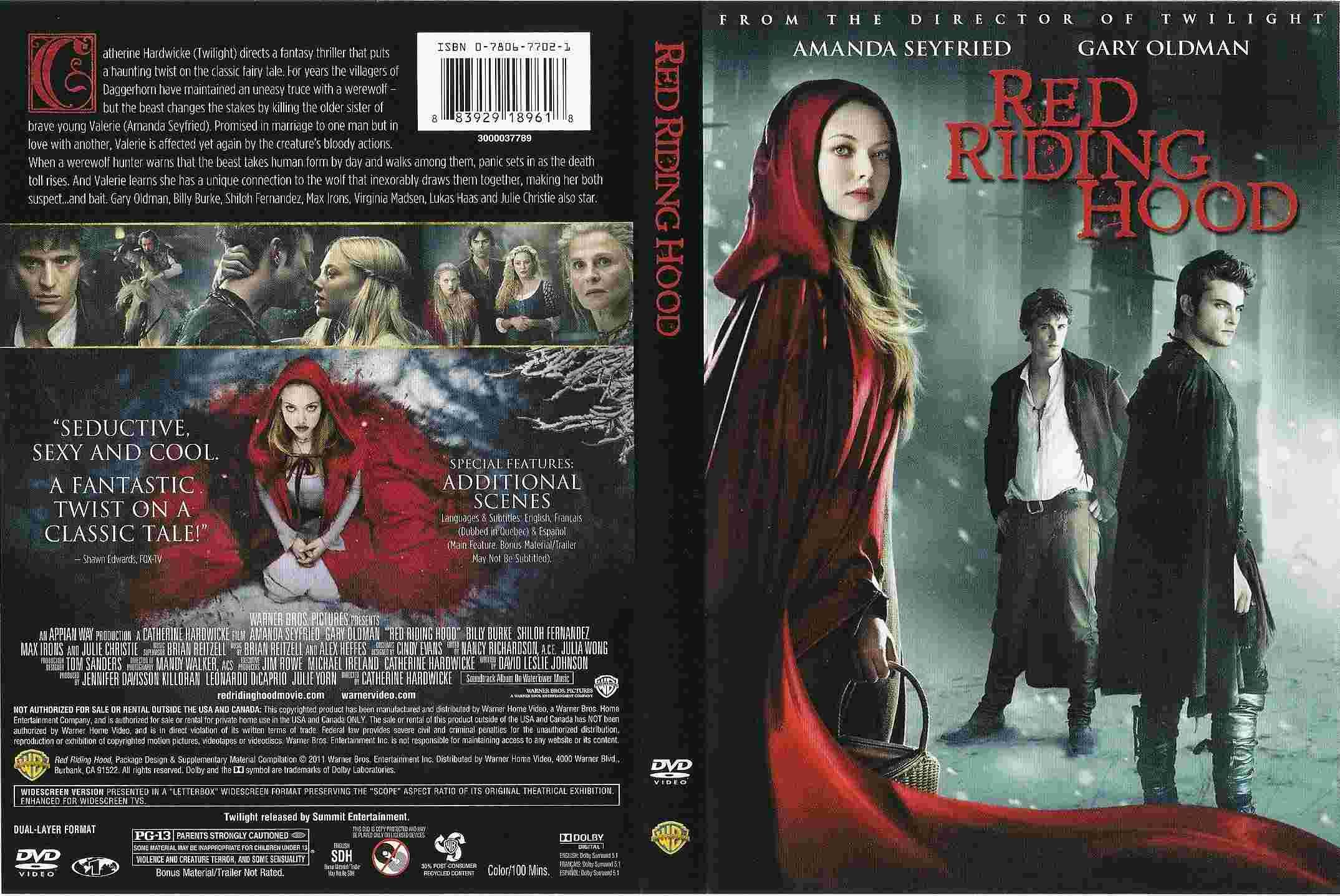 Red Riding Hood. Formato DVD.