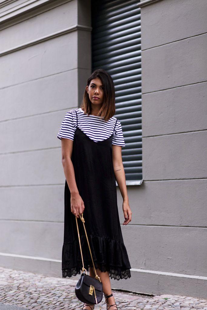 3 Top Styles To Wear Under A Slip Dress