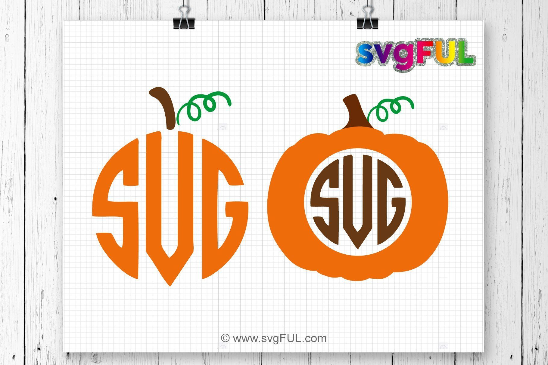 Pumpkin Monogram Svg, Pumpkin Svg Monogram svg, Pumpkin