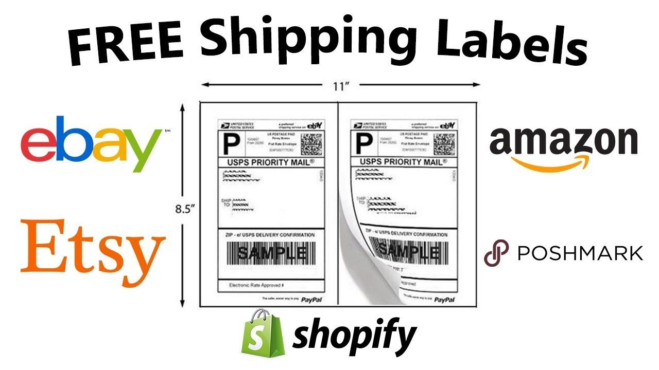 How To Get FREE Shipping Labels for Amazon, Ebay, Poshmark