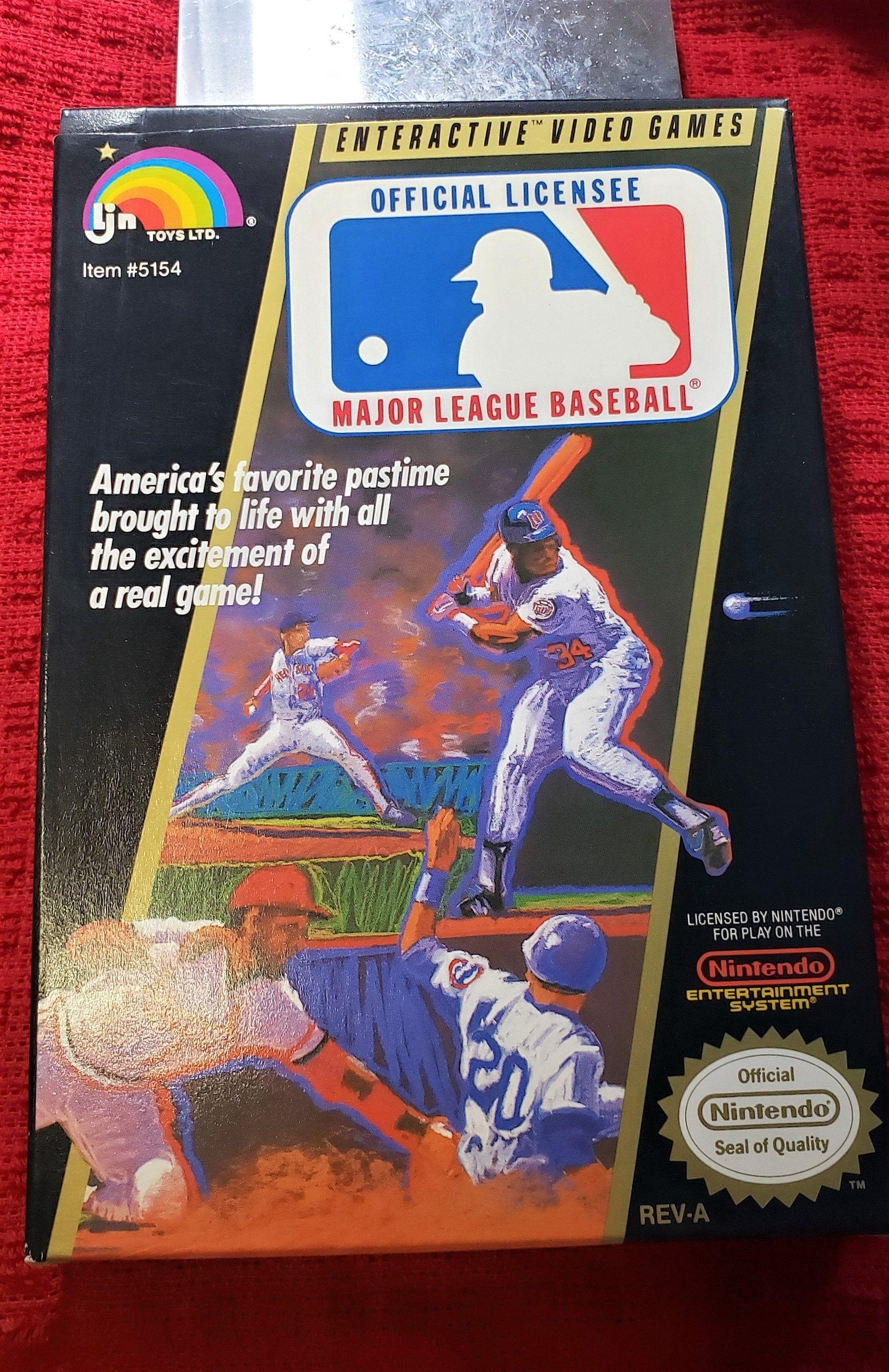 Vintage Ljn Toys Ltd Nintendo Major League Baseball Video Game Etsy Major League Baseball Baseball Videos Major League Baseball Players