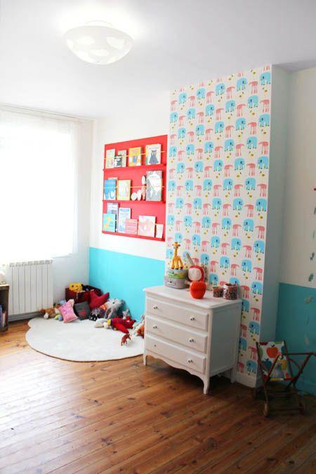 Encore une bibliothèque faite maison - Tête d\u0027ange Chambres bébé