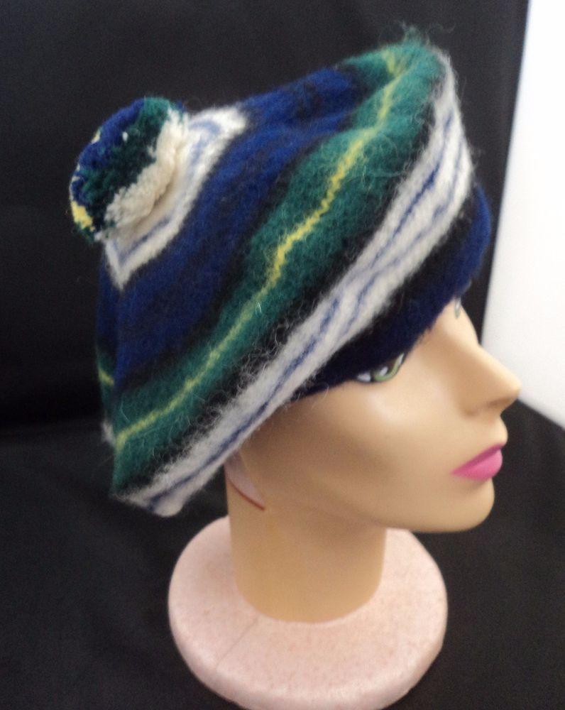 62b8888f2d95a Vintage Golfer Dress Gordon Plaid Mohair Wool Scottish Tam Hat Pom Pom  Unisex  DressGordon  Beret