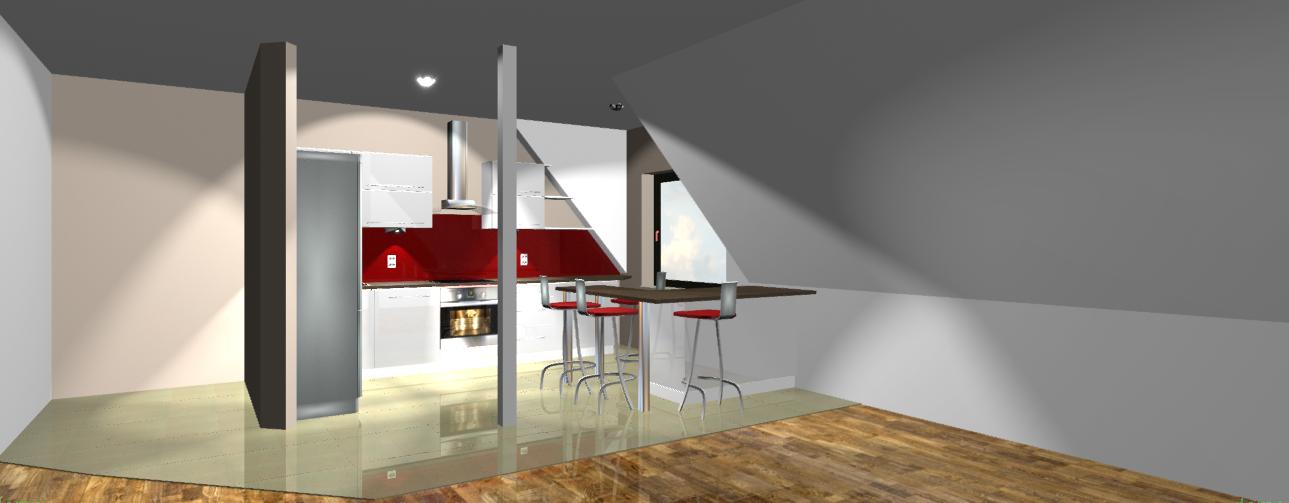 Projekt Kuchni Na Poddaszu Projekty Mk Studio Meble Furniture