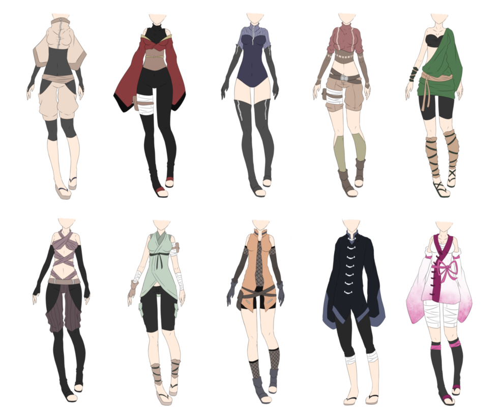 Naruto Outfit Adoptables 4 [CLOSED] by xNoakix3 on DeviantArt