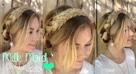 Alexsis Mae : Dutch Milk Maid Braid Updo ♡ NO HEAT
