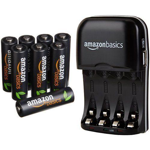 Amazonbasics Aa High Capacity Rechargeable Batteries 8 P Https Www Amazon Com Dp B01fjbdvim Re Aaa Battery Charger Rechargeable Batteries Battery Charger