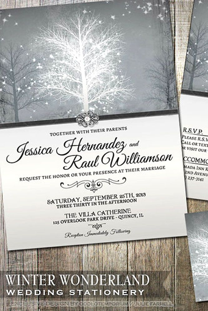 Elegant Winter Wedding Invitations See More Http Www Weddingforward