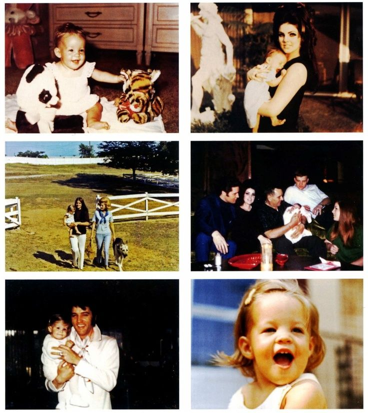 rare pictures of priscilla and lisa and elvis at graceland