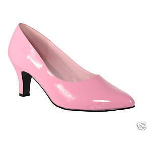 Low Heel Pink Pumps  Tsaa Heel