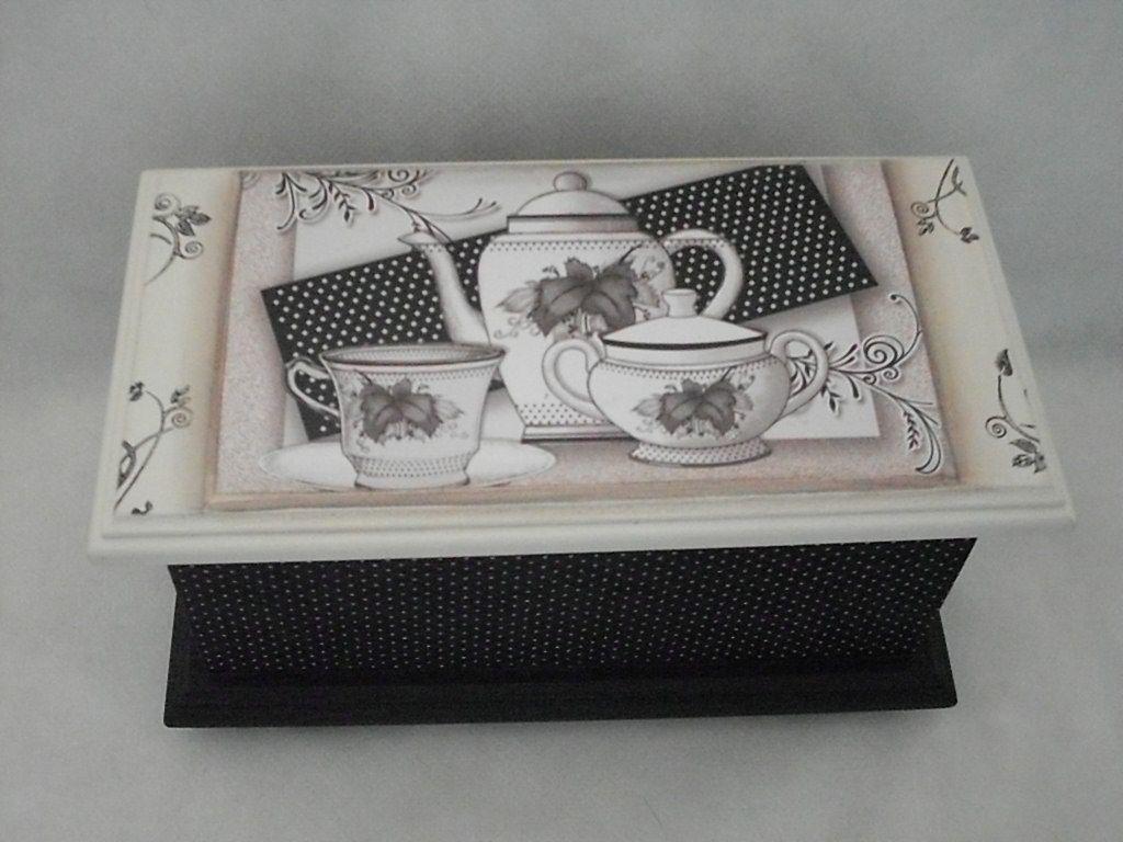 caixas de chá decoradas em mdf com fotos - Pesquisa Google
