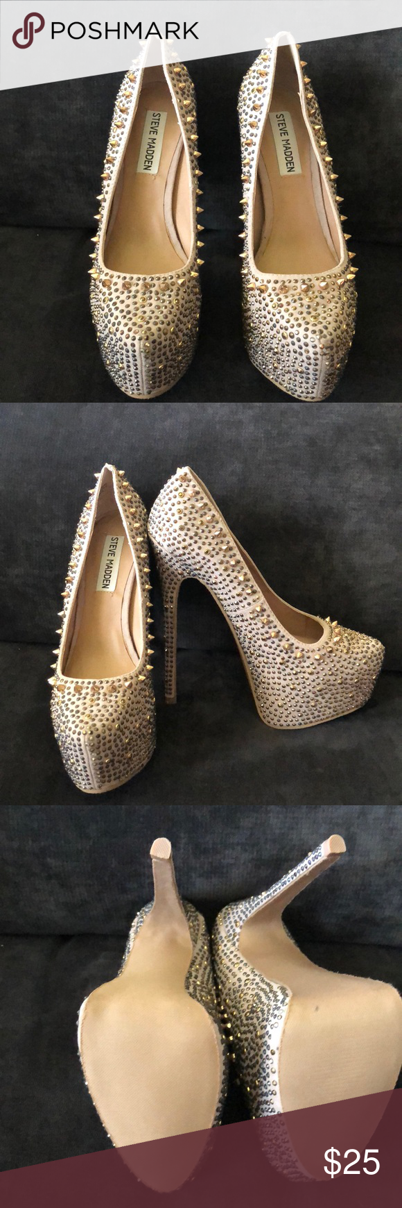 High heels Steve Madden nude 6 inch heel with a 2 inch platform. Never been  worn. Steve Madden Shoes Heels